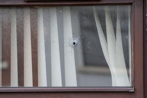 The house at Rossdowney Drive targeted in a sectarian gun attack