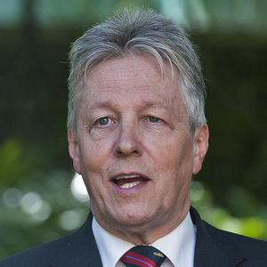 Peter Robinson attended services in Normandy to mark the D-Day landings
