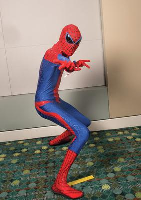 Who's under this Spiderman costume?