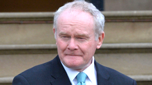Martin McGuinness has repeated his call to First Minister Arlene Foster to step aside.