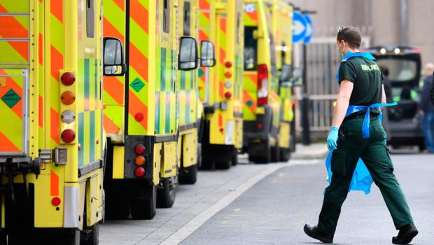 Delays: Ambulance queues are a common sight outside our hospitals due to pressure on beds