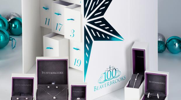 The 'diamond-a-day' Advent calendar being sold by Beaverbrooks this Christmas