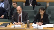 Chief Medical Office for England Professor Chris Whitty and his deputy, Jenny Harries, give evidence to the Health and Social Care Select Committee (House of Commons/PA)