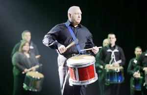 A choir, dancers and drummers performed at the Waterfront Hall yesterday as the renowned Belfast venue gave selected clients a chance to see inside the revamped arena