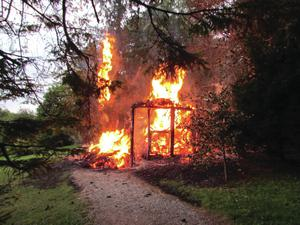 The fire at the Florence Court estate