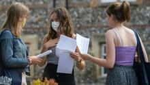 Students receive their A-level results (Joe Giddens/PA)