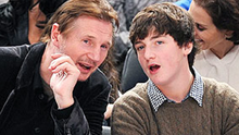 Liam Neeson with his son Micheal