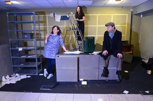 The cast and crew of The King Of East Belfast by Kabosh make final preparations for the live, socially distanced show, which opens in Connswater Shopping Centre