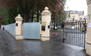 A new metal fence has been erected around the Chinese Consulate on the Malone Road, Belfast