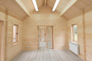 The eco-friendly timber cabin in place at Drumahoe Primary School in Londonderry