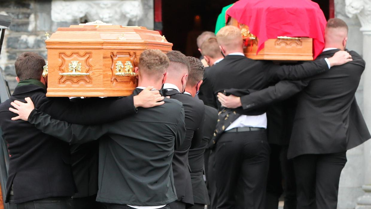 Lixnaw funerals: Mourners line street in guard of honour for mother and son killed in Kerry murder-suicide
