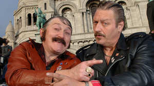 BJ Hogg (right) as Mervyn in Give My Head Peace along with Marty Reid as Uncle Andy