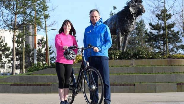 Nichola Mallon with Sustrans Interim Director Stephen Martin