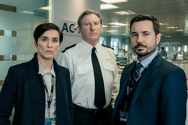 Adrian in Line of Duty with Vicky McClure and Martin Compston