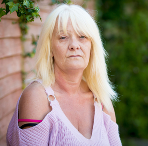Lesley Horner, whose son Colin was shot dead by paramilitaries in Bangor on Sunday afternoon