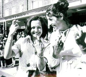 Betty with peace movement leader Mairead Corrigan