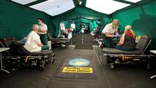 Shot in arm: Ambulance crews are vaccinated in Dublin's Pheonix Park