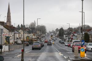 The main street of Cookstown in Co Tyrone where the Greenvale Hotel tragedy took place