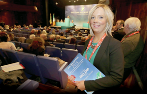 Sinn Fein's Catherine Seeley, who quit her Belfast teaching post after loyalist threats,  was last night elected deputy mayor of Craigavon