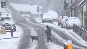 Snowy conditions in Blairingone, Fife (Andrew Milligan/PA)
