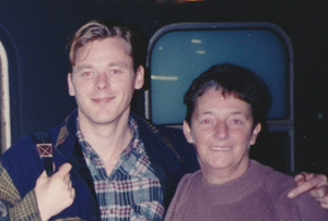 A young John Chambers after he reunited with mum Sally