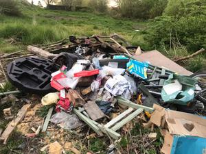 Some of the illegal dumping in Keady