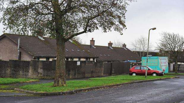 The scene of the shooting in Ballymagroarty