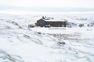 Parts of North Yorkshire were under snow yesterday