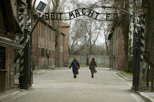 The gates at Auschwitz I camp (Dave Thompson/PA)
