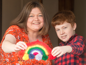 Rosie McCann from Limavady with her son Oisin (13)