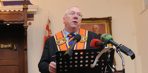 Rev Mervyn Gibson denies the Orange Order is trying to influence the DUP