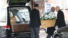 The remains of Giselle and Allison Marimon-Herrera arrive at Roselawn crematorium