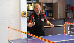 Jack Cash is a keen table tennis player