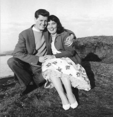 Ruth and her late husband Richard starting out on life's journey together