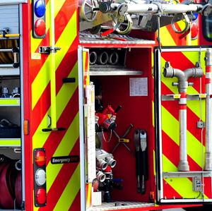 The fire service said smoke alarms were fitted in the property and alerted the occupier to the fire