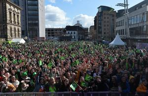 Custom House Square last year on St Patrick's Day