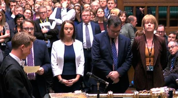 MPs in the House of Commons prepare to announce the result of a vote in which MPs approved a motion finding ministers in contempt of Parliament