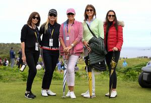 Darren Clarke's wife Alison (centre) with, from left, Oonagh Mullan, Mary McCartney (former Miss NI), Diane and Kerri McKeever