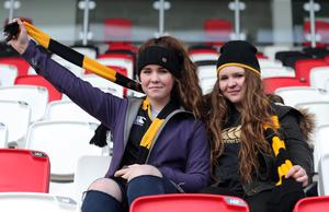 Supporters at the Danske Bank Ulster Schools Cup semi-final between Coleraine AI and RBAI at Kingspan Stadium