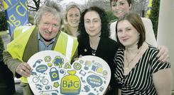From left: Actor Charlie Lawson; Keep NI Beautiful business development manager Lynsey McCloskey; KMB campaign manager Katy Jenkins; sports presenter Denise Watson, and the Telegraph's Linda Stewart at the launch