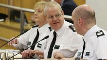 Chief Constable Simon Byrne attending the Policing Board meeting