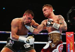 Carl Frampton fighting Scott Quigg.  Photo: Alex Livesey/Getty Images