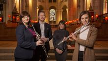 Pauline Klein, manager, Ulster Youth Orchestra, Oonagh Snoddy, Department for Communities, Ciaran Scullion, head of Music, Arts Council of Northern Ireland and Katrina Cuddy, Flautist, UYO
