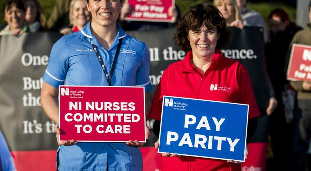 Thousands of nurses in Northern Ireleand are staging another walkout in a row over pay (Liam McBurney/PA)