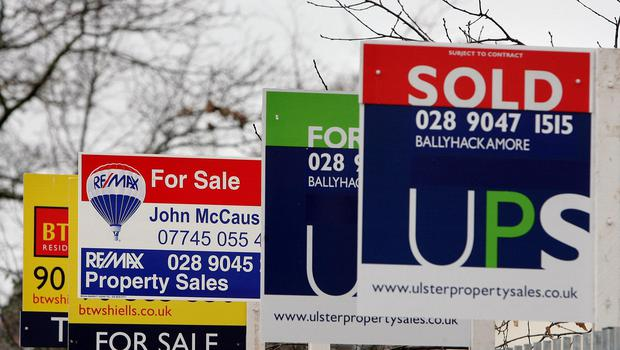 Properties for sale in east Belfast (Paul Faith/PA)