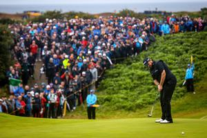 Shane Lowry wins the Open Championship at Royal Portrush last year
