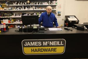 James McNeill, owner of McNeill's Hardware store and the Vivo extra store in Broughshane