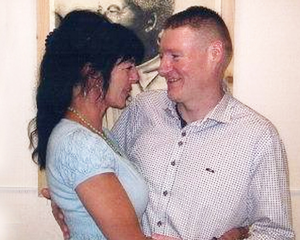 Brendan McConville with his fiancee Siobhan Monaghan