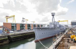 HMS Caroline, just recently upgraded, is the only survivor from the Battle of Jutland in 1916