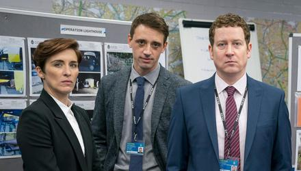 DI Kate Fleming (Vicky McClure), DS Chris Lomax (Perry Fitzpatrick) and DCI Ian Buckells (Nigel Boyle) in Season 6 of Line of Duty. Credit: Steffan Hill/BBC/World Productions